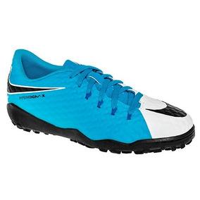 timeless design 6dcfd bd2b7 Tenis Nike Jr Hypervenomx Phelon 852598-104 Azul Blanco Pv