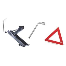 Kit Segurança Macaco Triângulo E Chave De Roda L 19 Ou 17