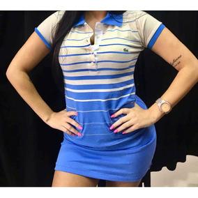 Vestido Polo Lacoste Original - Vestidos Femininas Azul no Mercado ... 0030bfb199