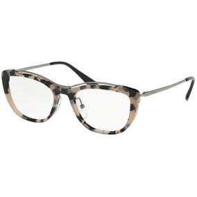 Óculos De Grau Prada Pr 04vv Hu71o1/53 Cinza Tartaruga