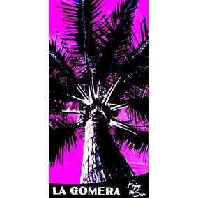 Toalha De Praia Palmera La Gomera Rosa 76 X 152cm