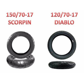 Pneu 150/70-17 Scorpion E 120/70-17 Diablo