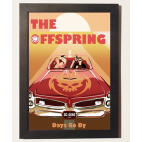 Quadro Poster Com Moldura Banda The Offspring Punk Rock