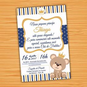 Convite Digital Ursa Princesa Urso Príncipe Cha Aniversario
