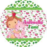 100 Adesivos Latinha Moranguinho Baby Personalizados