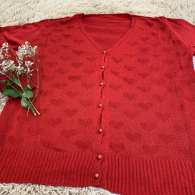 Blusa De Frio Casco Suéter Plus Size Com Bordado Coração