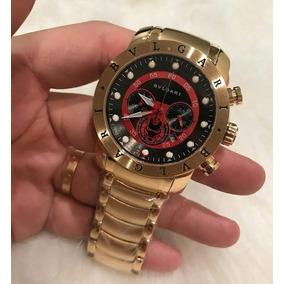 661106c3584 Relogio Dourado Em Dentro Azul Masculino Bvlgari - Relógios De Pulso ...