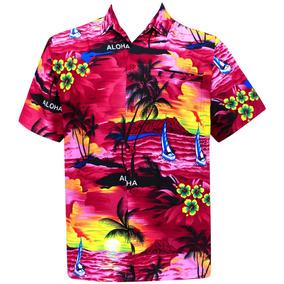 Camisa Hawaiana La Leela Hombre Manga Corta Entalle Regular