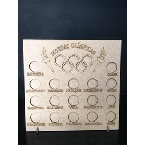 1 Quadro Porta Moeda Olímpicas 2016 Em Mdf