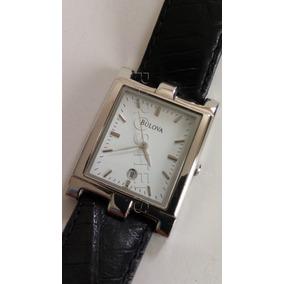 Relógio Pulso Bulova Quartz Calendário Déc.1990 Unissex
