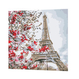 1 Juego De Pintura A Óleo De Pintura Torre Eiffel De Paño