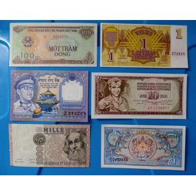 Lote Cédula Estrangeira Letônia, Iugoslávia, Nepal, Butão Fe
