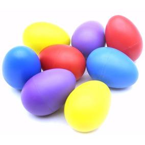 Kit Com 24 Ovinhos Ganza Colorido Chocalho Eggs