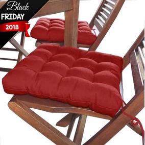 Assento Para Cadeira Futon 40x40cm Vermelho