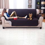 Protector De Sofa 3 Puestos Doble Faz Gris - Negro