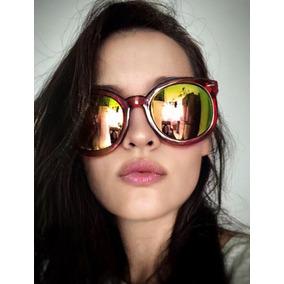 e4119dc8600c2 Óculos De Sol De Gatinho Redondo Oversize - Óculos no Mercado Livre ...