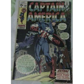Gibi Hq Captain America Nº 124 (1970) Importada Em Inglês!