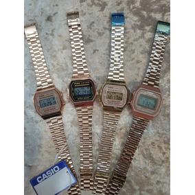 93f3041ac3bc Reloj Casio Bañado En Oro Cuadrado - Relojes en Mercado Libre México