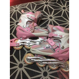 Patines Rollers Juf Abec7 Mujer Pro Talla 34-37 Rosa