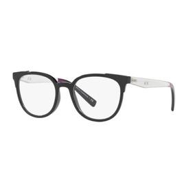 679571194e286 Armação Oculos Grau Armani Exchange Ax3051 8158 51 Preto Bri