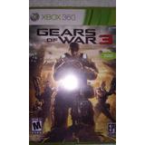 Gears Of War 3 Xbox 360 Disco Sin Rayones Como Nuevo