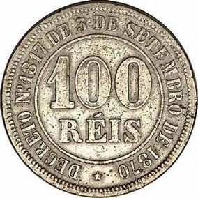 Linda Moeda De 100 Reis Do Ano De 1885, Mbc (cupro-niquel)