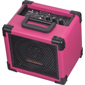 Caixa Multiuso Microfone Player 80 Usb 20w Rms Reais Rosa