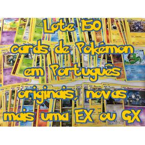 Lote 150 Cards Pokemon + Ex Ou Gx De Brinde, Em Português!!!
