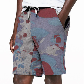 dac24b3ae Kit Shorts Masculino - Bermudas Moletom Masculinas Verde no Mercado ...