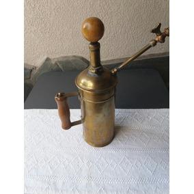 Antiguo Pulverizador Fumigador De Bronce