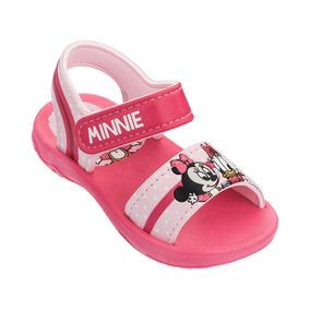 Sandália Minnie Rosa Disney Cute Baby 17 Ao 27 Grendene