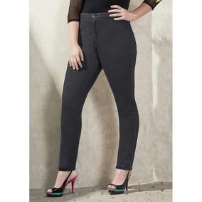 Moda Skinny Pantalon Gris Dama Basico Guardarropa 1214772