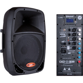 Caixa Ativa Donner 15 Dr1515 700w Usb Bluetooth Nca 350+350w