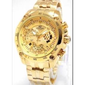 70ca3aab90c Edifice Casio 5147 Dourado Outro - Relógios De Pulso no Mercado ...