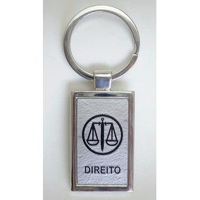 Kit 10 Chaveiros Direito Metal Advogado Símbolo Profissão