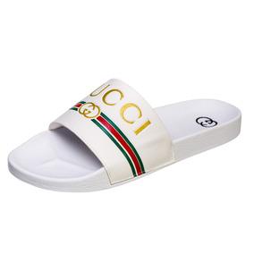 f86dc968b30581 2 Pares Sandália Slide Gucci Unissex Frete Grátis