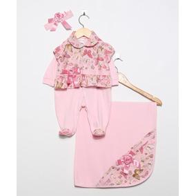 460acc315a Saida Maternidade Luxo Rosa - Roupas de Bebê no Mercado Livre Brasil