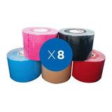 8x Vendas Tape Kinesiologico Ktape Sc 5 Cm X 5 Mt Sdmed