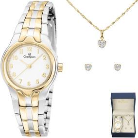 3e669602100 Relogio Feminino Champion Prata Pequeno - Relógios no Mercado Livre ...