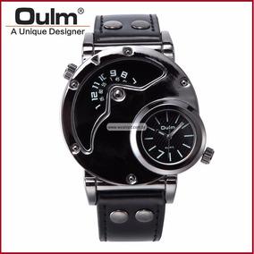 97852468e69 Relógio Masculino Oulm 9591 Prova D  Aguá. Alagoas · Relógio Masculino  Esporte Pulseira Couro Original ...