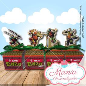 Caixa De Acrilico Tartarugas Ninjas(20 Unidades)