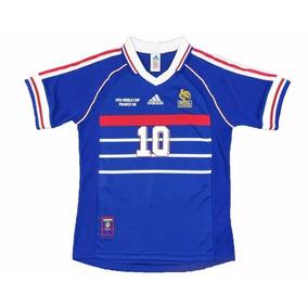 Camisa Oficial França Retro 1998 - Zidane ( Edição Retro )