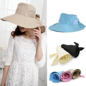 4796937e5a Moda Mujeres Sol Sombrero Plegable Ancho Borde Yo -tie Arco