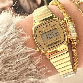 d4f6b08a7b4 Relogio Casio Dourado - Relógio Casio Feminino no Mercado Livre Brasil