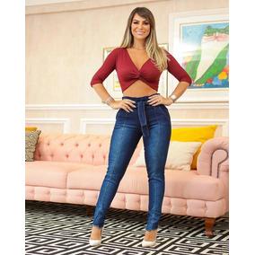 Calça Feminina Clochard Jeans 36ao46 Lycra Roupa Feminina