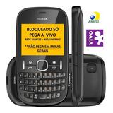 Nokia Asha 201,2g,simples,só P/ Vivo(não Pega Nada Em Mg)