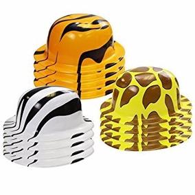 Set De 12 Sombreros De Niños Para Fiesta De Safari Marca Fun c068be6a32a