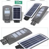 Luminaria Publica Led Solar 60w Painel Sensor Noturno