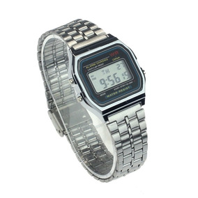 Relógio De Pulso Masculino Aço Inoxidável Digital Alarme