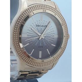 271ee49a90a Relógio Seculus Feminino Swarovski 13003lpsvda2 - Relógios De Pulso ...